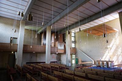 het interieur van de simon peters kirke